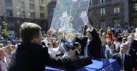 محاولة فاشلة في أوكرانيا لسرقة كأس بطولة اليورو 2012