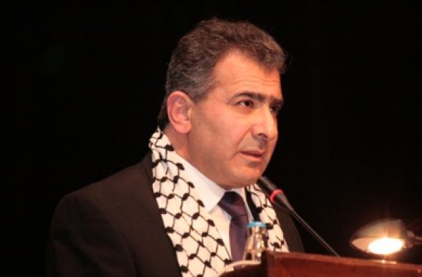 السفير الفلسطيني د. محمد الأسعد يلقي كلمته