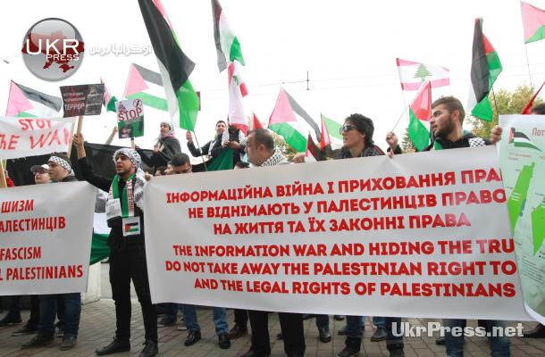 عرب كييف ينتفضون نصرة للأقصى والشعب الفلسطيني
